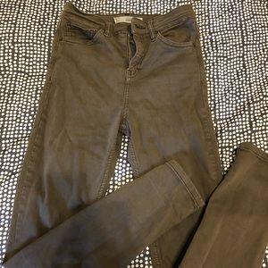 Jamie TOPSHOP Moro jeans in olive green waist 25